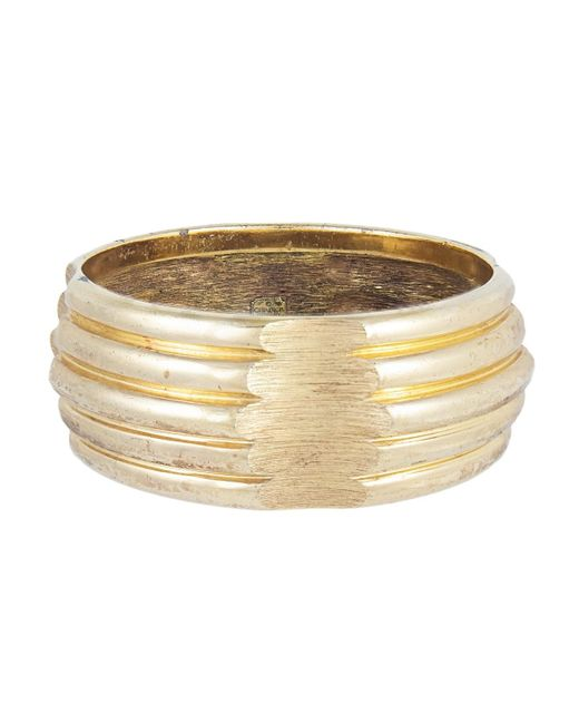 Dior Metallic Gold Gold Plated Bracelet