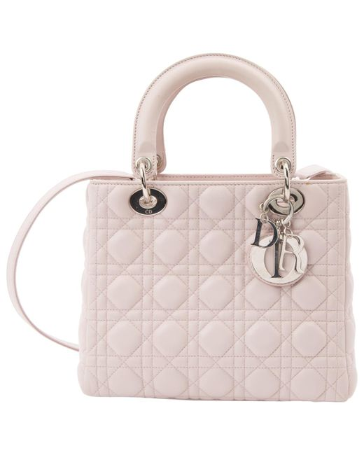 Dior - Pink Lady Leather Handbag - Lyst