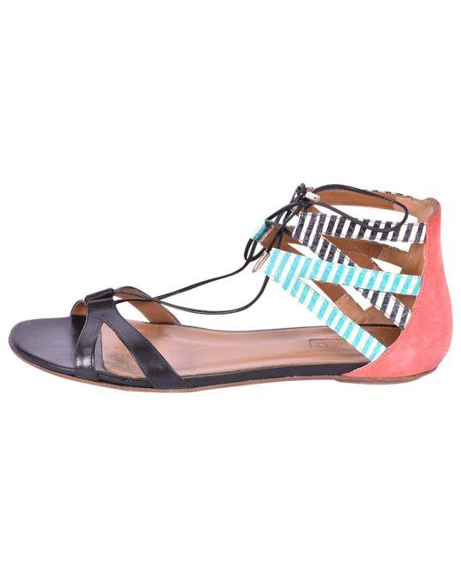 Aquazzura - Pre-owned Black Leather Sandals - Lyst