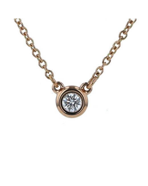 Tiffany & Co Metallic \n Other Pink Gold Necklaces