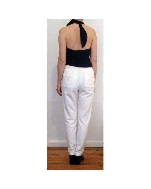 Étoile Isabel Marant Pantalons en Coton Blanc femme