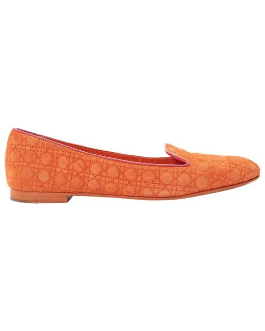 Dior - Orange Pre-owned Flats - Lyst