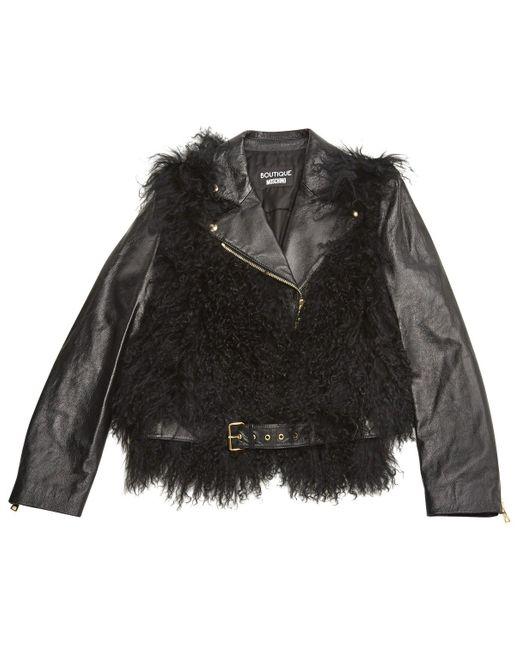 Moschino Black Leather Jacket