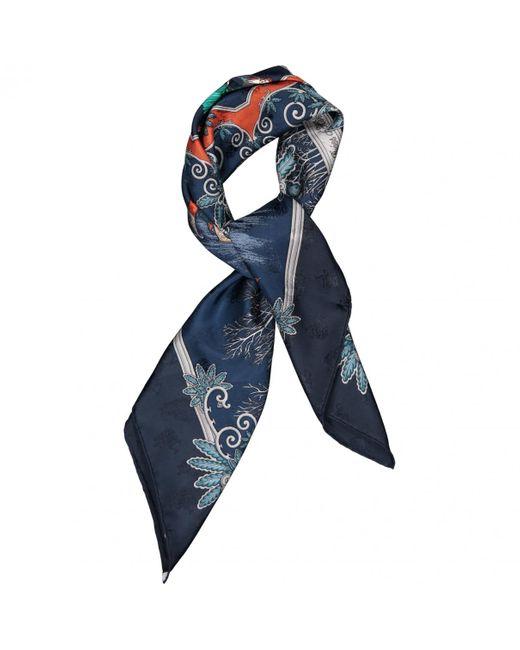 Hermès Blue Carré Géant silk Seide schals