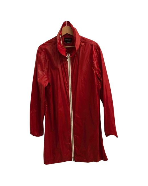 CALVIN KLEIN 205W39NYC Red Trench Coat