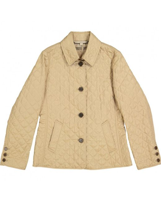 Burberry - Natural Beige Polyester Jacket - Lyst