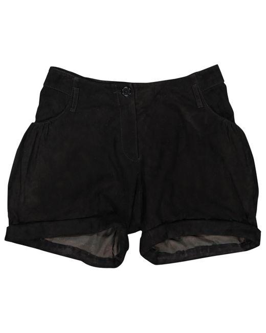 Shorts in Scamosciato Nero di Givenchy in Black