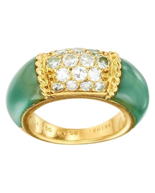 Van Cleef & Arpels - Green Pre-owned Philippine Yellow Gold Ring - Lyst