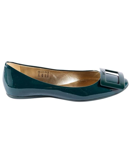 Roger Vivier | Green Pre-owned Patent Leather Ballet Flats | Lyst