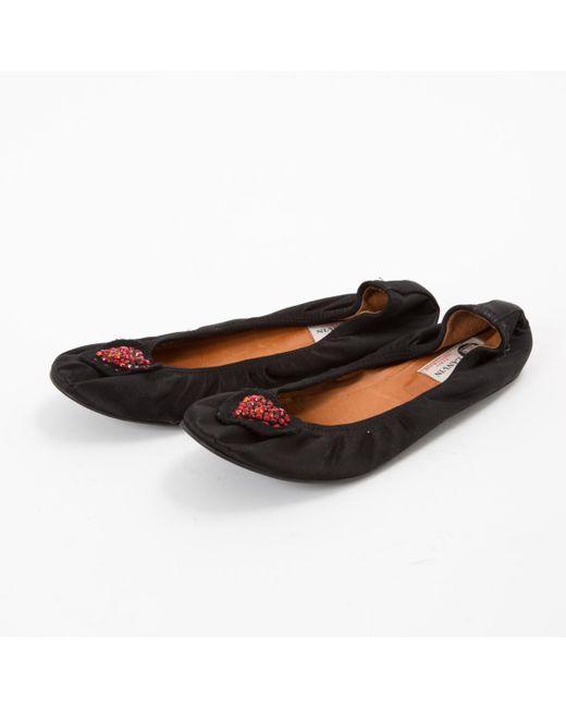 propiedad original Lanvin de negro en de Zapatillas ballet Lyst X7CwwPvq 0049931003335