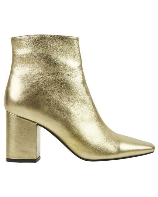 1c59261d29731d Anine Bing - Metallic Gold Leather Ankle Boots - Lyst ...