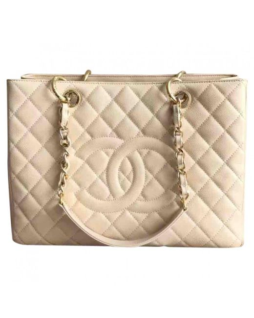 Chanel | Natural Pre-owned Grand Shopping Leather Handbag | Lyst