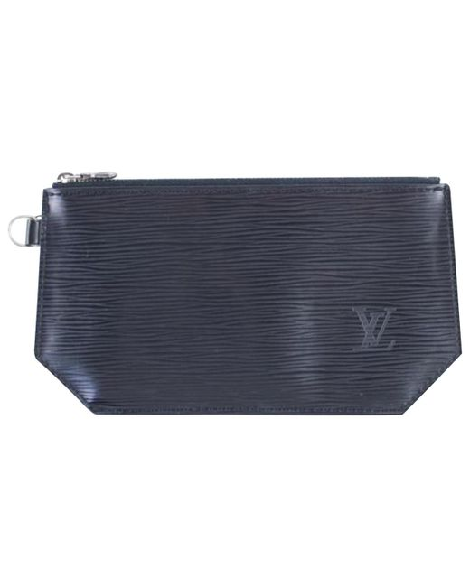 Louis Vuitton - Black Pre-owned Leather Purse - Lyst
