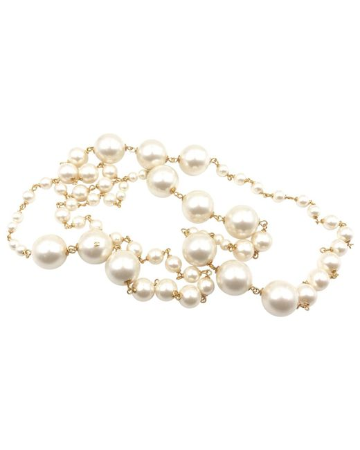 Chanel | White Pre-owned Necklace | Lyst