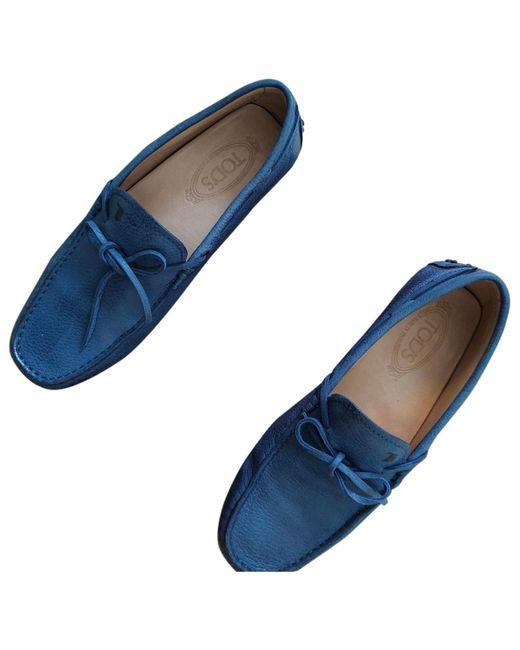 Tod's Mocasines en cuero marino Gommino de hombre de color azul