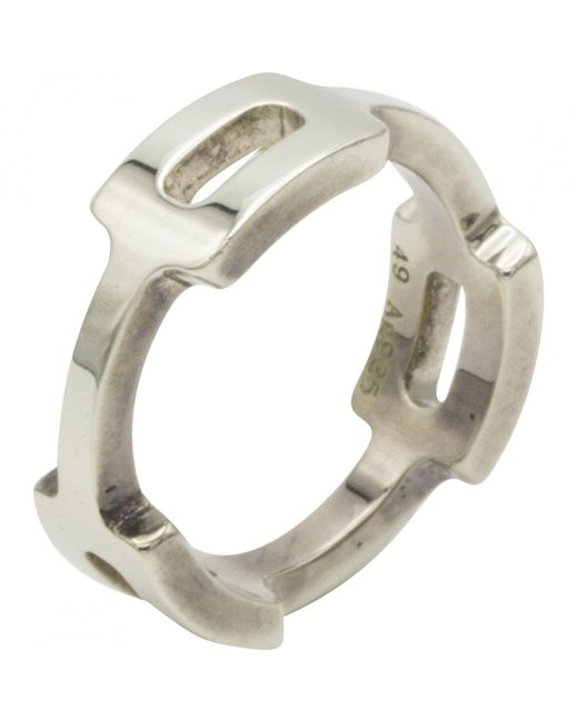 Hermès - Metallic Pre-owned Silver Silver Rings - Lyst