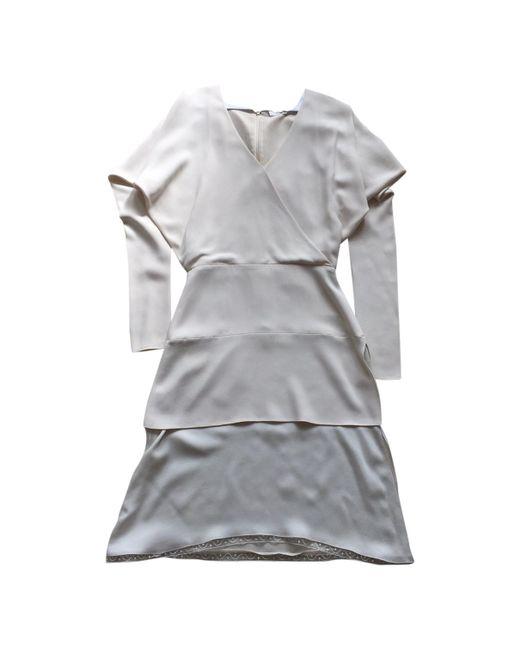 Chloé - Gray Ecru Other Dress - Lyst