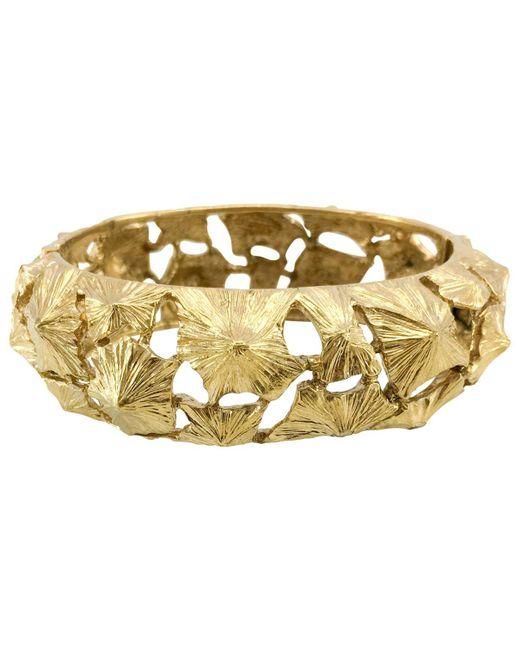 Lanvin - Metallic Pre-owned Gold Metal Bracelet - Lyst