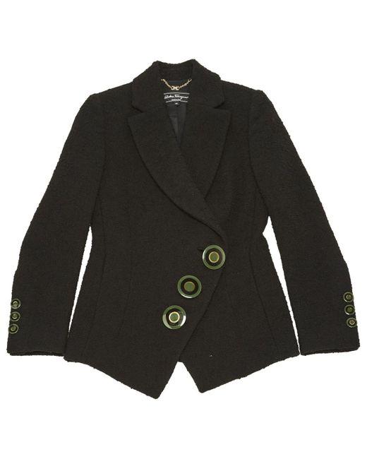 Ferragamo Black Wool Jacket