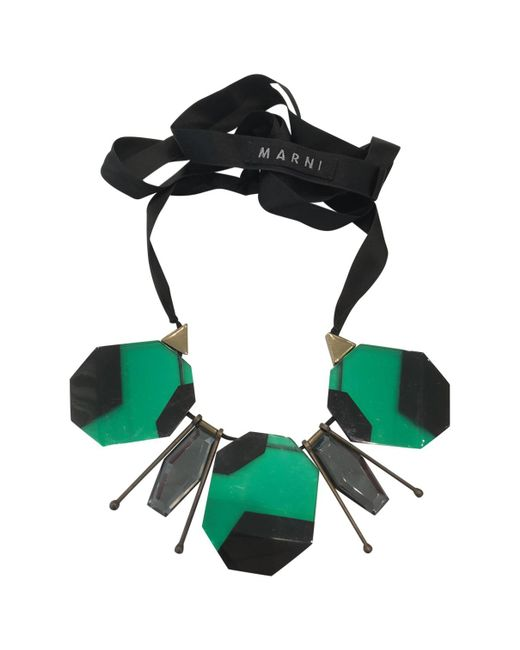 Marni - Green Horn Necklace - Lyst