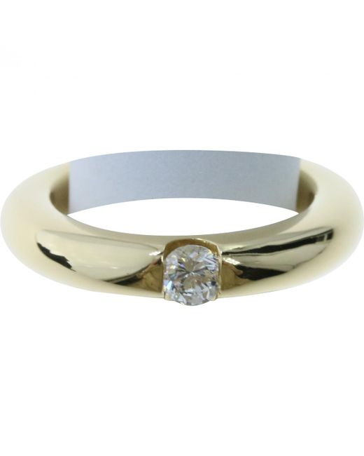 Cartier - Metallic Vintage Gold Yellow Gold Ring - Lyst