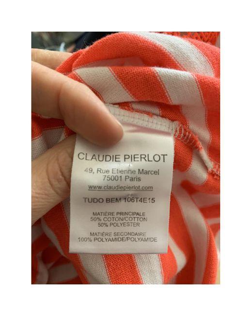 Top en Coton Blanc Claudie Pierlot en coloris White