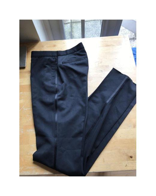 Burberry Pantalons en Laine Noir homme