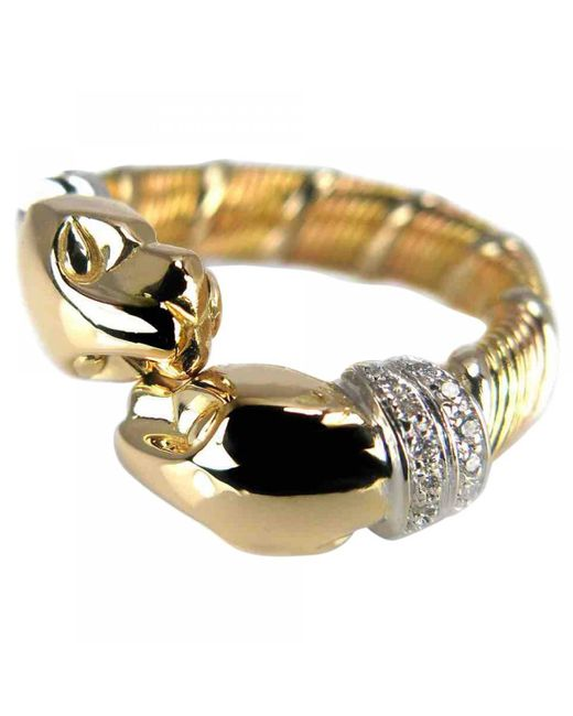 Cartier - Metallic Pre-owned Vintage Panthère Gold Yellow Gold Rings - Lyst