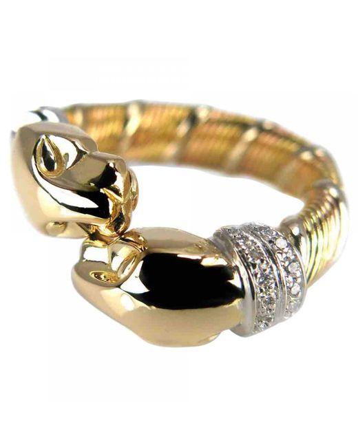 Cartier - Metallic Panthère Yellow Gold Ring - Lyst