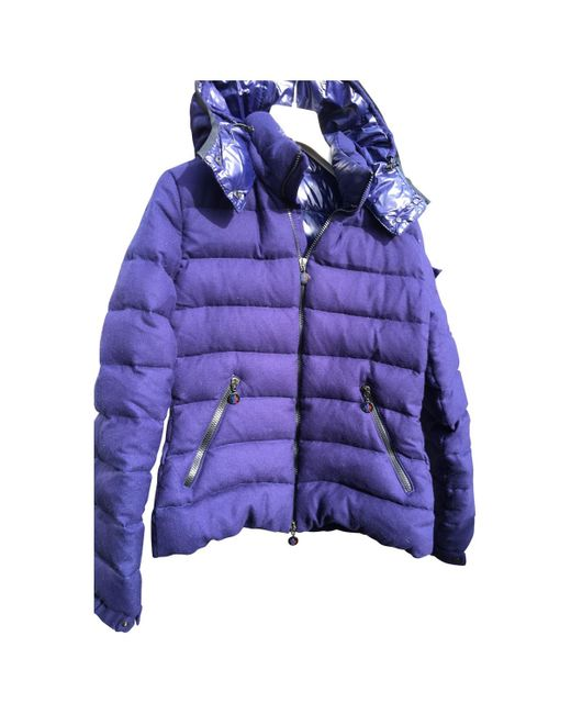 Moncler Blue Classic Wool Puffer