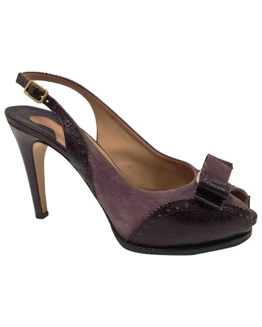 Ferragamo Purple Leather