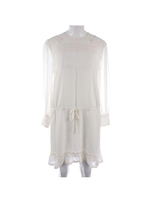 Anine Bing Mini vestido de Seda de mujer de color blanco