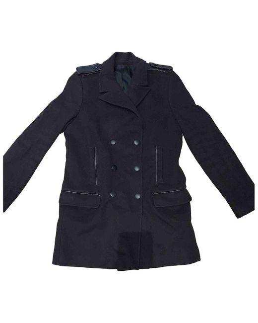 The Kooples Abrigo de Lana de mujer de color negro