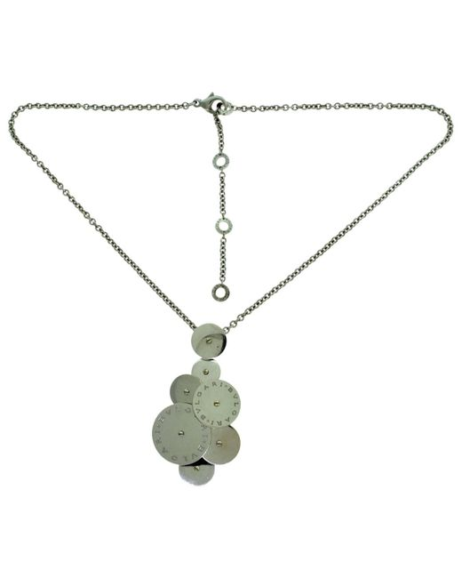 BVLGARI - Pre-owned Cicladi White White Gold Necklaces - Lyst