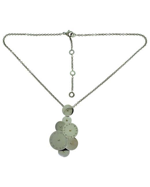 BVLGARI - Cicladi White Gold Necklace - Lyst