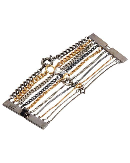Jean Paul Gaultier - Metallic Multicolour Metal Bracelet - Lyst
