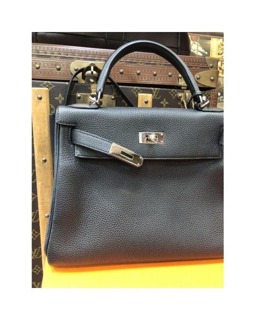 Hermès Black Kelly 28 Leder Handtaschen