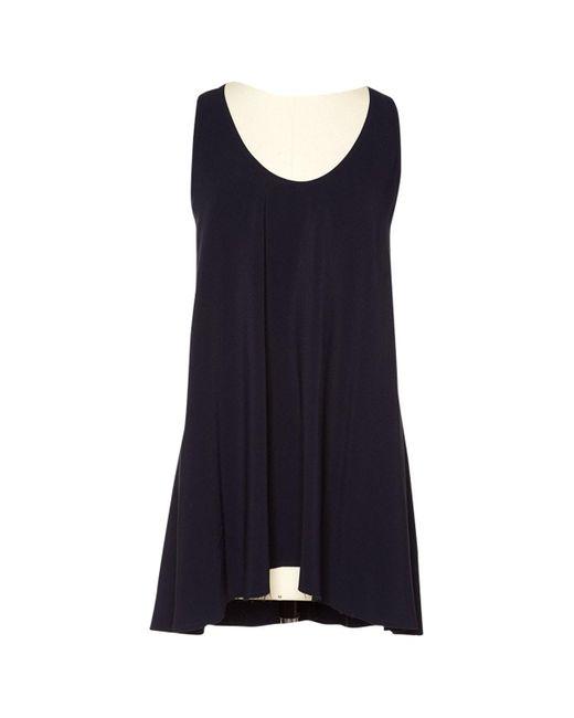 Helmut Lang Blue Navy Cloth Top