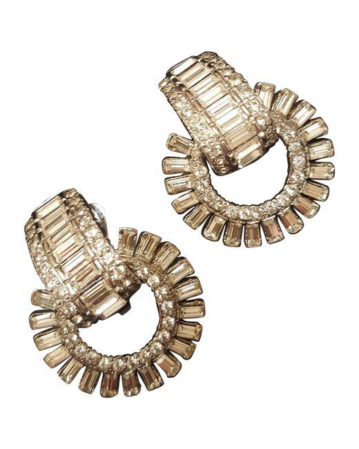 Versace - Metallic Earrings - Lyst