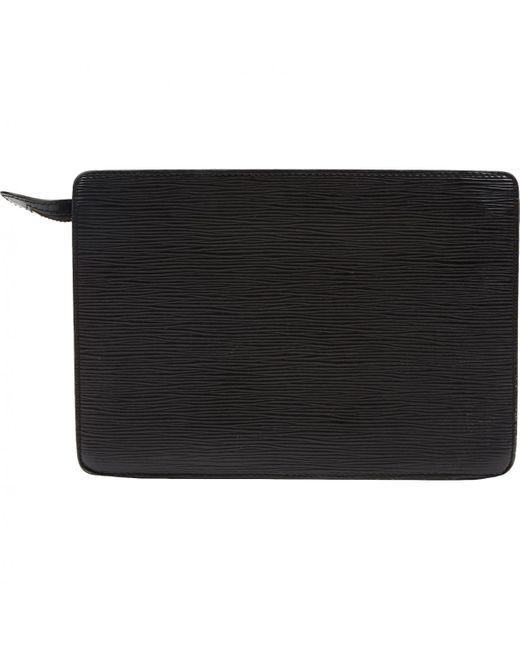 Pochette de Cuero Louis Vuitton de color Black