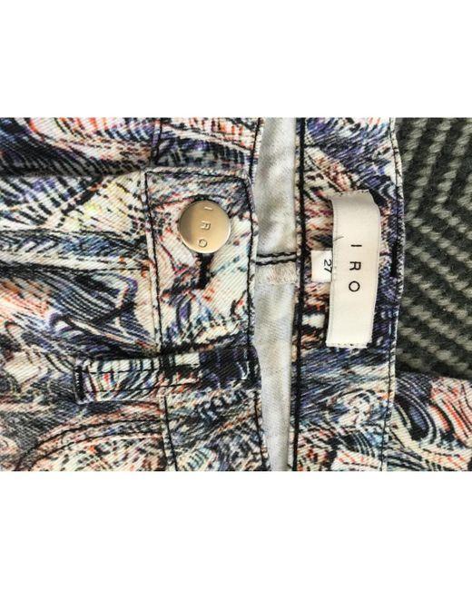 IRO Pantalons en Coton femme O4Nbt