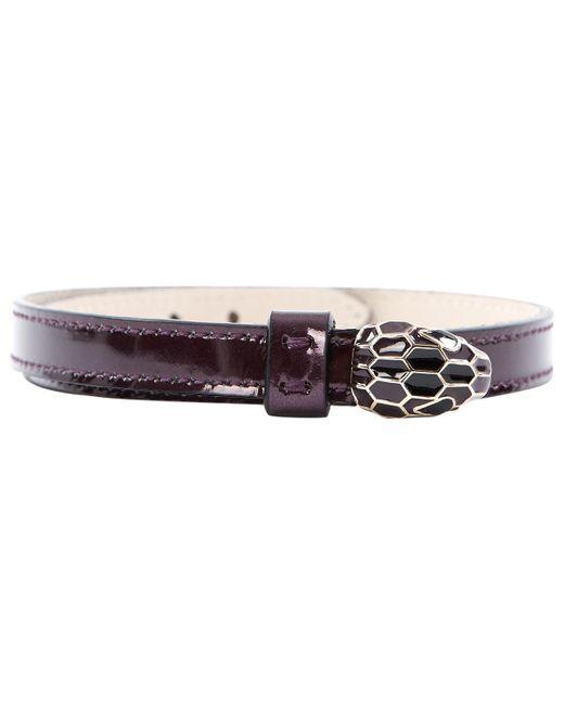 BVLGARI - Purple Patent Leather Bracelets - Lyst
