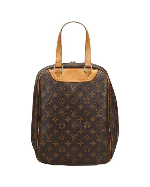 Louis Vuitton - Vintage Brown Cloth Travel Bag - Lyst