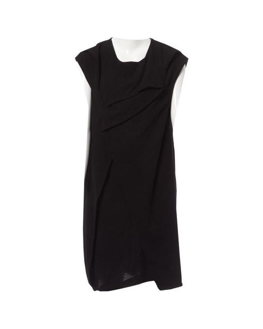 Vestito midi in Lana di Hussein Chalayan in Black