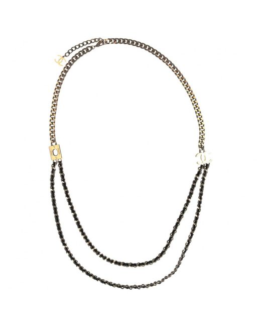 Chanel - Metallic Pre-owned Gold Metal Long Necklaces - Lyst