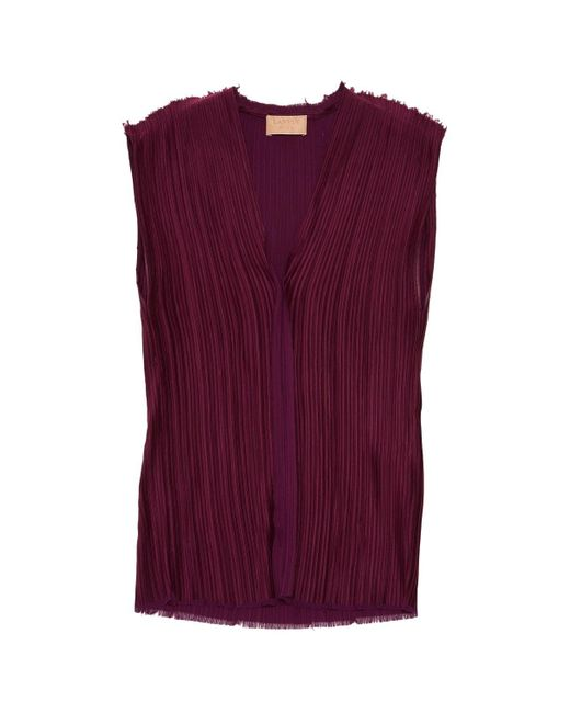 Lanvin Purple Polyester Top