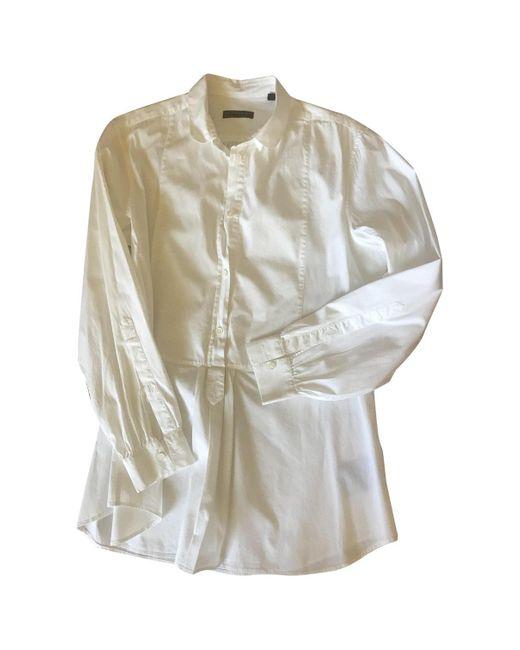 Burberry Camisa de mujer de color blanco q4w4H