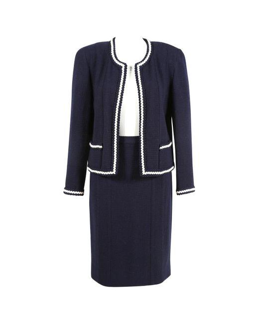 Chanel Blue Wool