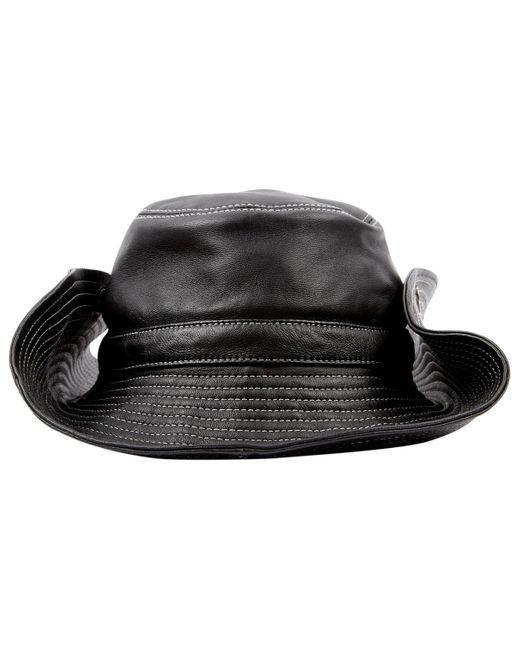 Ganni Black Leder hüte