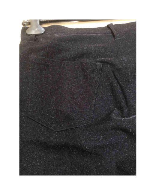 Junya Watanabe Pantalons en Polyester Noir femme